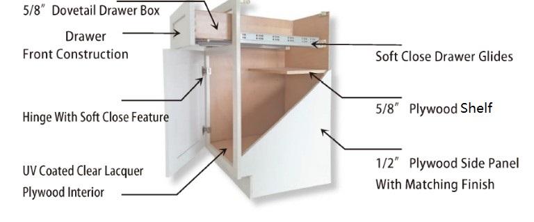 Classic oak raided door style European design kitchen cabinet