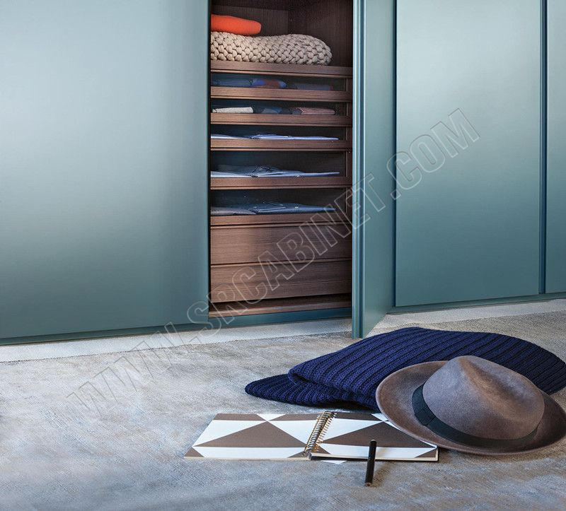 Manufacturer new design modern style hinged door bedroom wardrobe customized Wardrobe Armoire Closet with Drawers