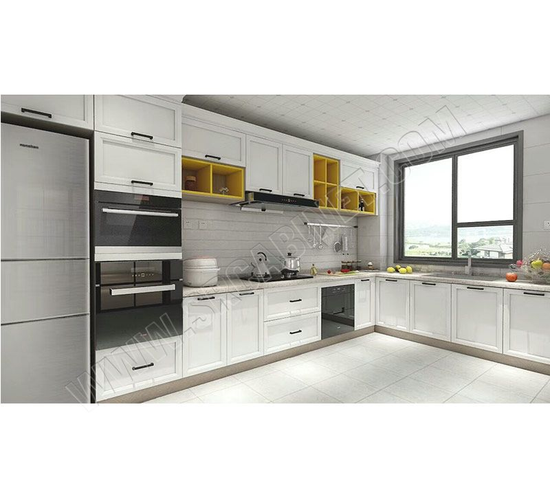 China factory white shaker door modular kitchen Cabinet