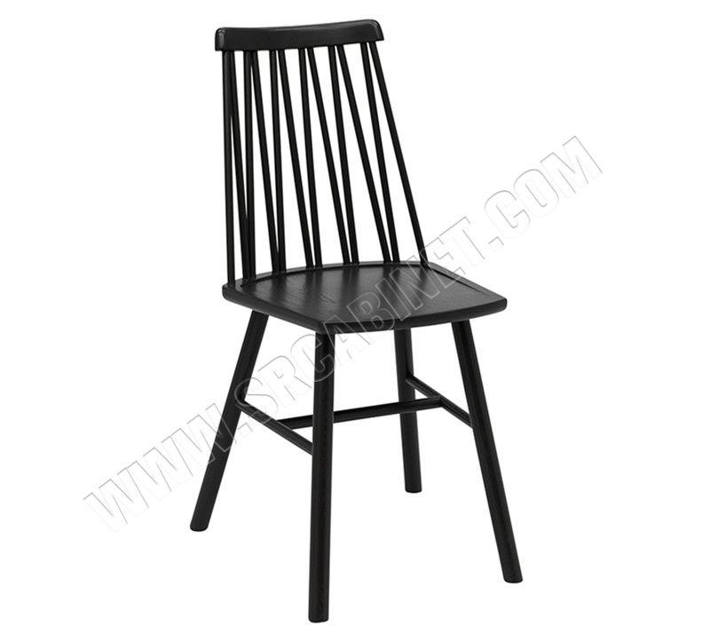 Industrial Design Oak Cafeteria Wooden Dining Chair Modern Black Hotel Restaurant,Restaurant Chair