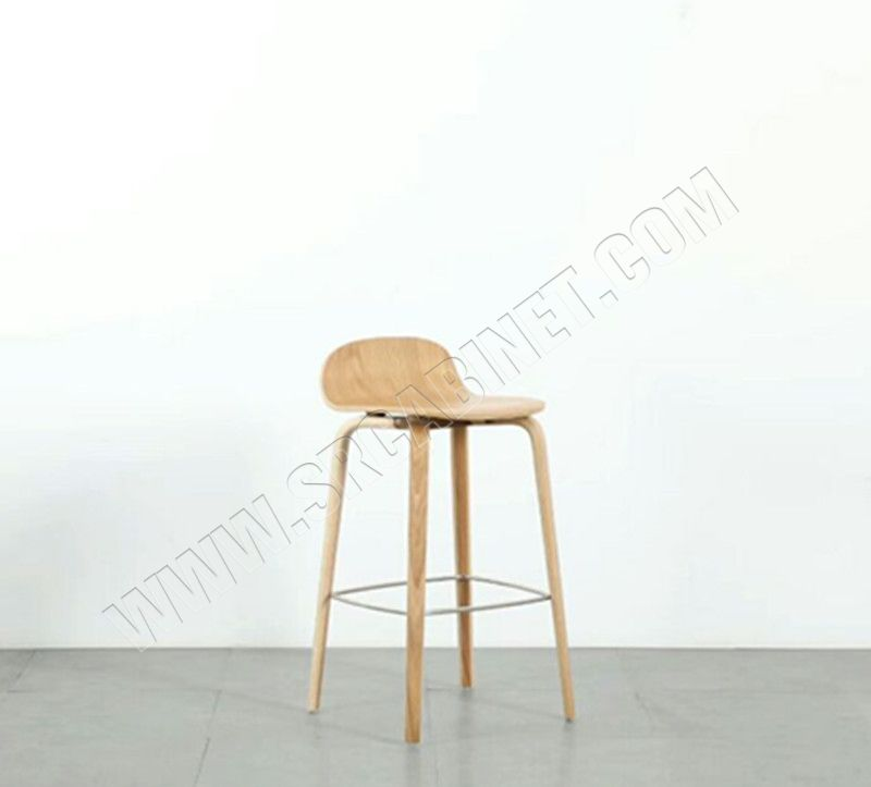 Profession factory supplier furniture wood modern solid wood bar stool cafe Bar Restaurant Barstool