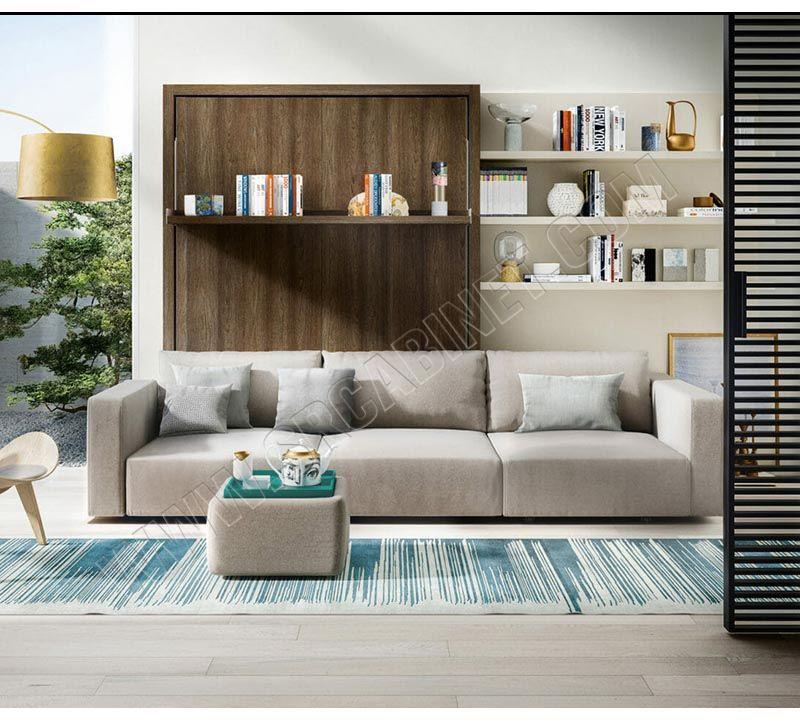 Sofa bed Smart furniture wood vertical murphy folding sofa wall bed set
