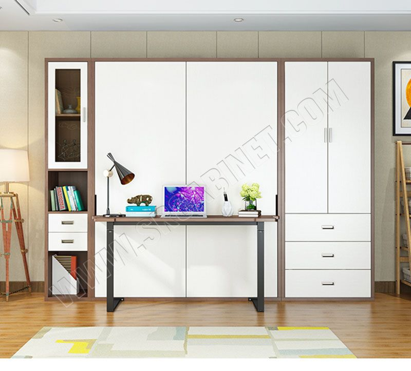 Multifunction murphy bed vertical folding hidden wall bed