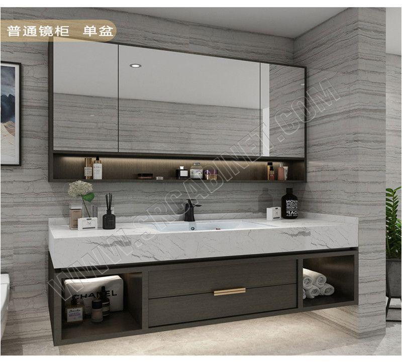 Wholesale Bathroom Vanities Modular Bathroom Furniture PVC  Bathroom Cabinet