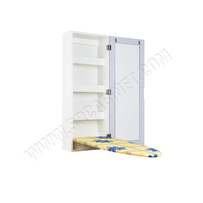 Cheap price Ironing Board storage Cabinet With Glass Mirror ironing+boards