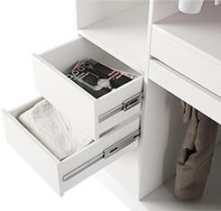 Modern design bedroom furniture high gloss sliding door wooden wardrobe closets