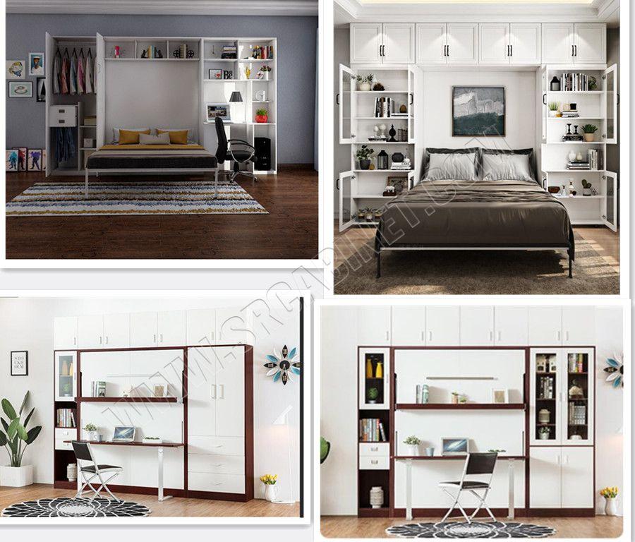 Multifunction murphy bed vertical folding hidden wall bed