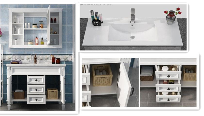 North American oak  Solid Wood Bathroom Cabinet Vanity