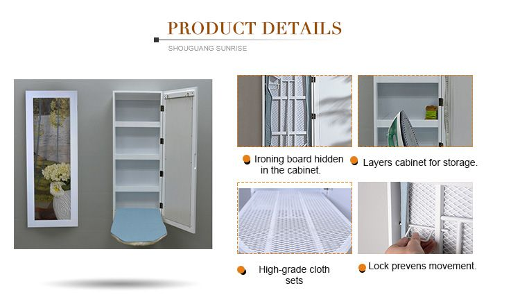 Cheap price Ironing Board storage Cabinet With Glass Mirror ironing boards